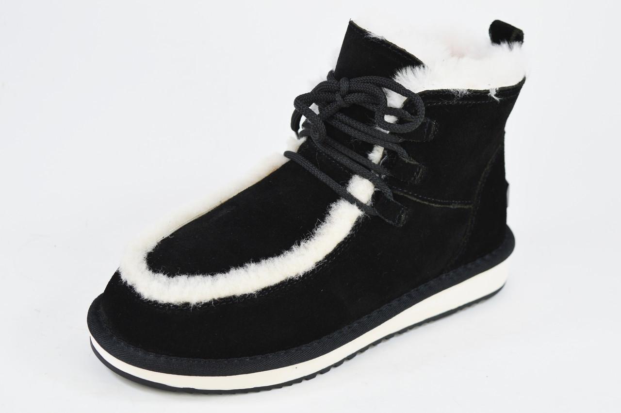 Угги Prima D'arte 8063 37 Черные с белым мехом