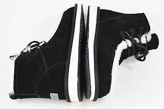 Угги Prima D'arte 8063 37 Черные с белым мехом, фото 2