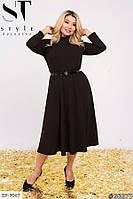 Жіноча офісна сукня з креп-дайвінгу, фото 1