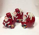 Дед Мороз на луне, сувенир новогодний,12Х8Х8 см, статуэтка, керамика, Днепропетровск, фото 3