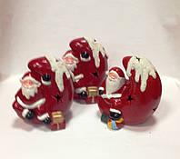 Дед Мороз на луне, сувенир новогодний,12Х8Х8 см, светодиодный, керамика, Днепропетровск