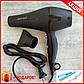 Фен для волос Gemei GM-1763 Матовый мощный фен + Подарок, фото 7