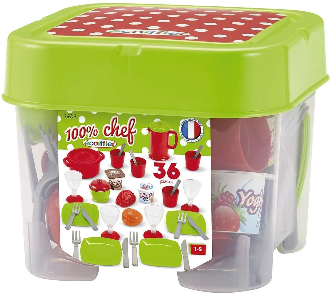 Игровой набор посуды Chef с продуктами в боксе , Ecoiffer 002603