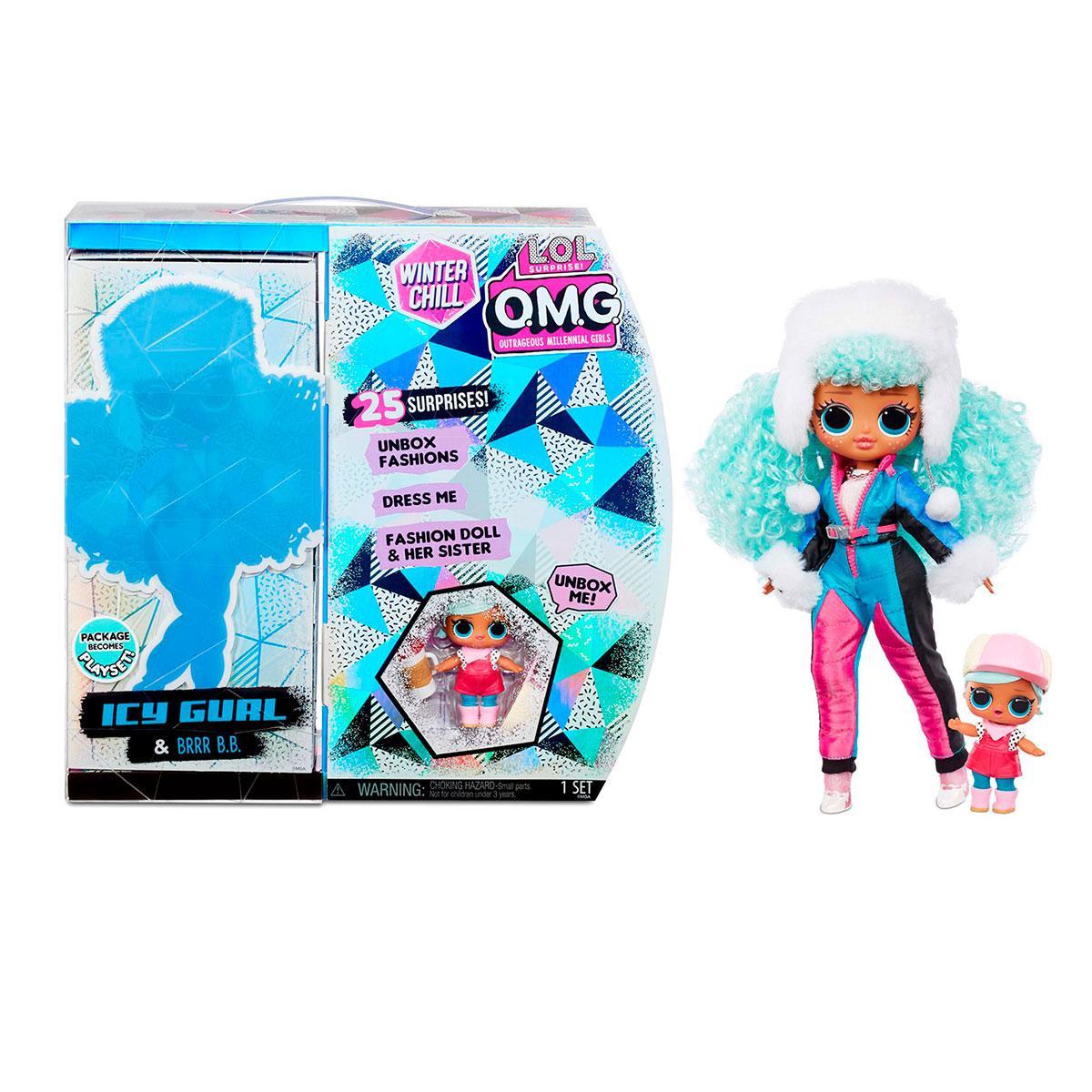 Кукла ЛОЛ Сюрприз ОМГ Ледяная Леди L.O.L. Surprise! O.M.G. Winter Chill ICY Gurl Fashion Doll OMG LOL  570240