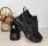 Зимові з натуральної шкіри жіночі кросівки арт 9022 чорні,бежеві MARCCO., фото 8