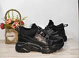 Зимові з натуральної шкіри жіночі кросівки арт 9022 чорні,бежеві MARCCO., фото 5