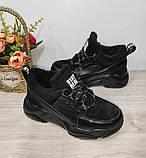 Зимові з натуральної шкіри жіночі кросівки арт 9022 чорні,бежеві MARCCO., фото 4
