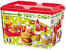 Набір продуктів Ecoiffier Гамбургер з посудом 002623, фото 2