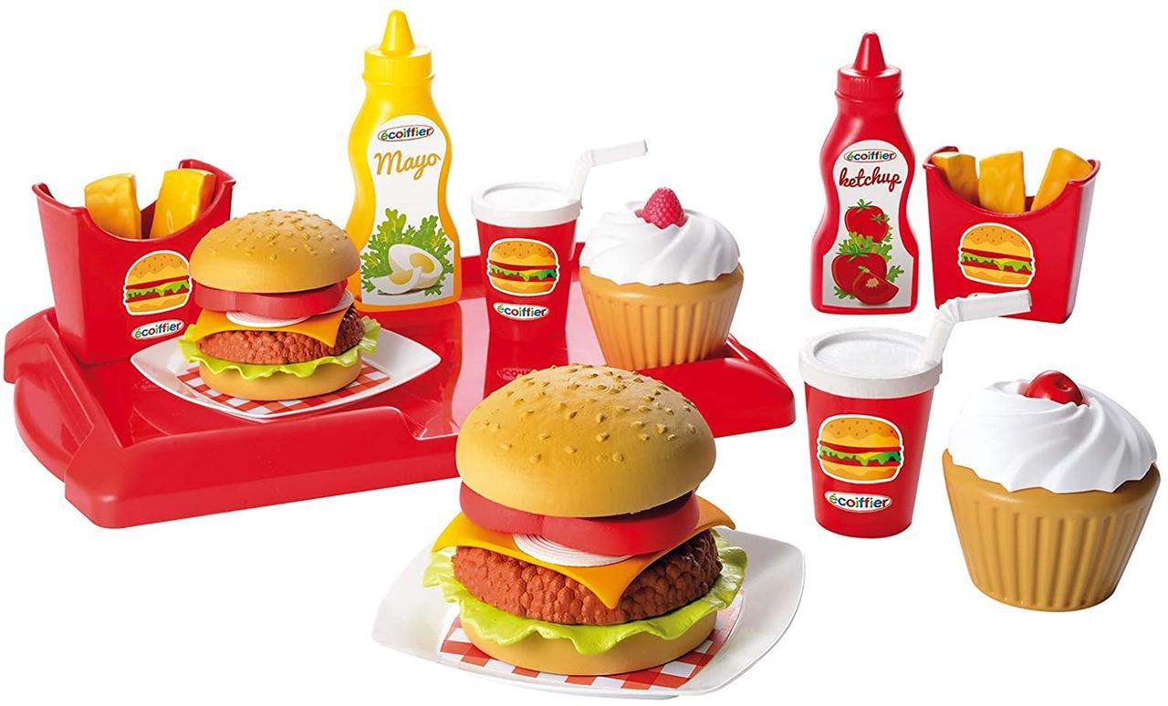 Набір продуктів Ecoiffier Гамбургер з посудом 002623