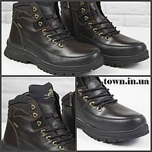 Зимние мужские ботинки теплые на меху Stylen Gard M8882-1 коричневые