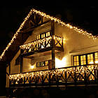 Гирлянда улица Бахрома 120 LED, Золотая (Теплый белый, Желтая), черный провод, 5м., фото 6