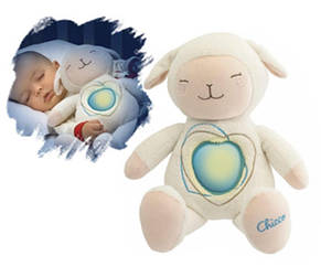 Ночник игрушка Овечка мягкая Chicco 60048, фото 2