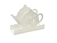 Салфетница белая в форме чайника