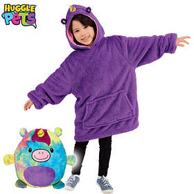 Детский плед толстовка халат с капюшоном Huggle PETS