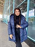 Женская зимняя теплая куртка плащевка+холлофайбер 200 размер:42-44, 46-48, 50-52, 54-56, фото 2