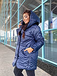 Женская зимняя теплая куртка плащевка+холлофайбер 200 размер:42-44, 46-48, 50-52, 54-56, фото 3