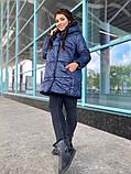 Женская зимняя теплая куртка плащевка+холлофайбер 200 размер:42-44, 46-48, 50-52, 54-56, фото 4