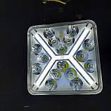Фара диодная 48W дальний свет+ДХО, фото 2