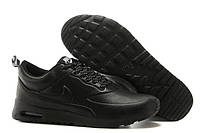Кроссовки мужские Nike Air Max Thea Leather (найк аир макс, оригинал) черные