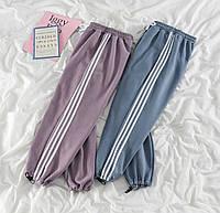 Жіночі штани з лампасами Трехнить на флісі 42-44, 44-46 рр.