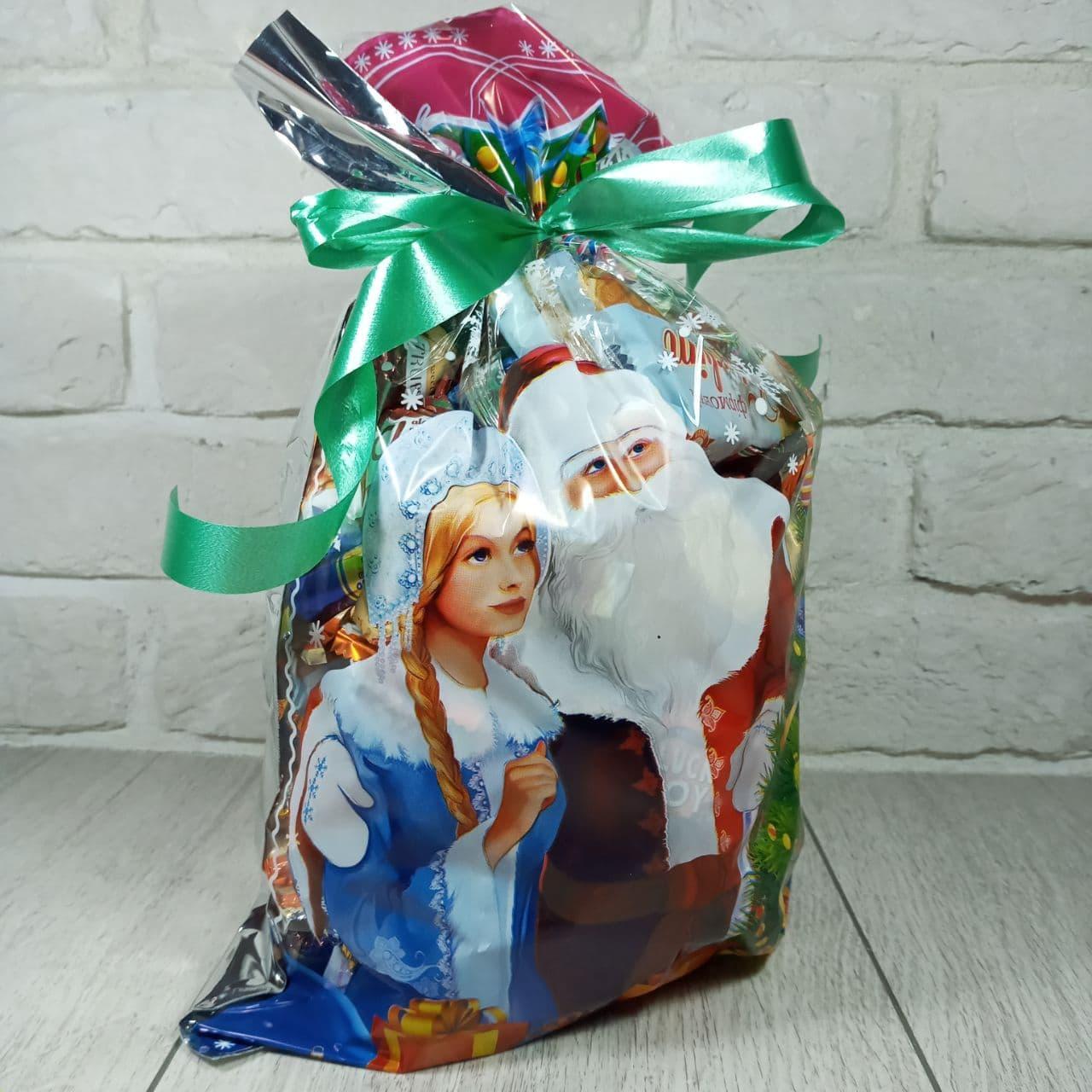 Новогодняя подарочная упаковка для конфет 25см 40см Новый Год (100 шт)