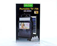 Фонарь с радиоприемником, телевизором и солнечной панелью GD 8086 top
