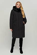 Стильне жіноче тепле пальто В-77, р-ри 50-60