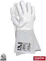 Краги сварщика рабочие длинные REIS (RAW-POL) Польша (перчатки кожаные) RSPL2XLUX WJS