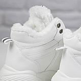 Кросівки жіночі зимові чоботи Ideal A79 на шнурівці повсякденні, білі на осінь-зиму. 36 - 41 р., фото 2