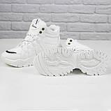 Кросівки жіночі зимові чоботи Ideal A79 на шнурівці повсякденні, білі на осінь-зиму. 36 - 41 р., фото 5