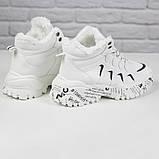 Кросівки жіночі зимові чоботи Ideal A79 на шнурівці повсякденні, білі на осінь-зиму. 36 - 41 р., фото 3