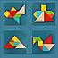 Логическая игра ТАНГРАМ с множеством образцов для сборки., фото 2