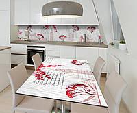 Наклейка 3Д виниловая на стол Zatarga «Калина Лондон» 650х1200 мм для домов, квартир, столов, кофейн,, фото 1