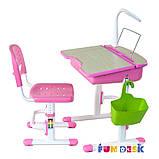 Парта регулируемая FunDesk Capri Pink, фото 4