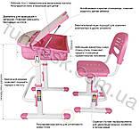 Парта регулируемая FunDesk Capri Pink, фото 9