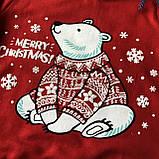 Теплый новогодний джемпер на мальчика  и девочку.  Размеры 92 см, 98 см, 104 см, 110 см, 116 см, 122 см, фото 2
