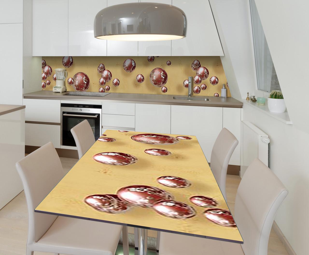 Наклейка 3Д виниловая на стол Zatarga «Шоколадные сферы» 650х1200 мм для домов, квартир, столов,
