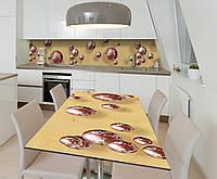 Наклейка 3Д виниловая на стол Zatarga «Шоколадные сферы» 650х1200 мм для домов, квартир, столов, , фото 1