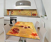 Наклейка 3Д виниловая на стол Zatarga «Музыка Ноты» 650х1200 мм для домов, квартир, столов, кофейн,, фото 1