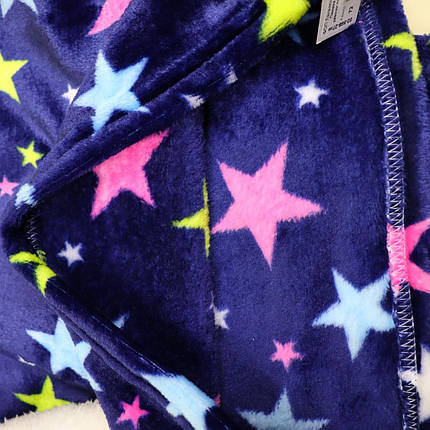 02-568-27зв Піжама для дівчинки вельсофт Зірки синя тм Katty розмір 72, фото 2