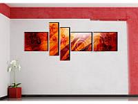 """Модульная картина """"Ruddy abstract"""" , фото 1"""