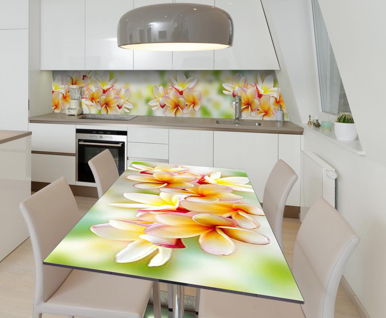 Наклейка 3Д виниловая на стол Zatarga «Гавайские Леи» 600х1200 мм для домов, квартир, столов, кофейн,