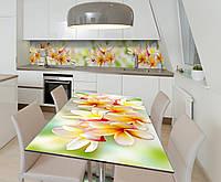 Наклейка 3Д виниловая на стол Zatarga «Гавайские Леи» 600х1200 мм для домов, квартир, столов, кофейн,, фото 1