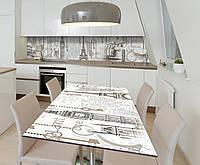 Наклейка 3Д виниловая на стол Zatarga «Культура» 650х1200 мм для домов, квартир, столов, кофейн, кафе, фото 1