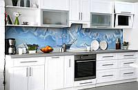 "Скинали на кухню Zatarga  ""Ледяное Море Корабль""  600х2500 мм виниловая 3Д наклейка кухонный фартук, фото 1"
