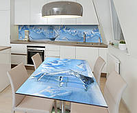 Наклейка 3Д виниловая на стол Zatarga «Ледяное Море Корабль» 650х1200 мм для домов, квартир, столов, , фото 1