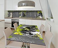Наклейка 3Д виниловая на стол Zatarga «Виноград Лоза» 600х1200 мм для домов, квартир, столов, кофейн,, фото 1