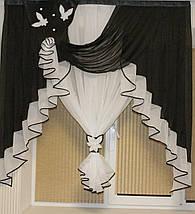 Ламбрекен с тюлью №175 1,50м на кухню, фото 3