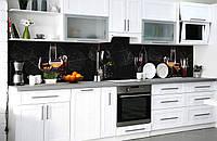 """Скинали на кухню Zatarga  """"Благородные Напитки""""  600х3000 мм виниловая 3Д наклейка кухонный фартук, фото 1"""