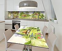 Наклейка 3Д виниловая на стол Zatarga «Шевченкова Хата» 600х1200 мм для домов, квартир, столов, кофейн,, фото 1